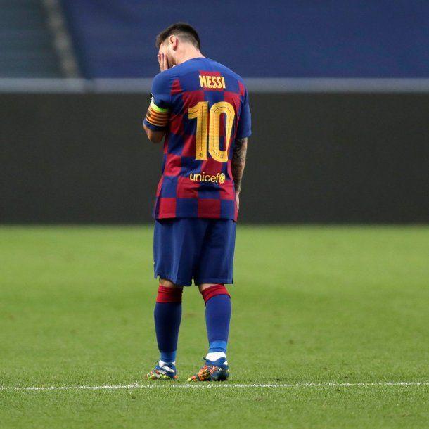 Lionel Messi sufrió la durísima goleada del Barcelona ante el Bayern Múnich.