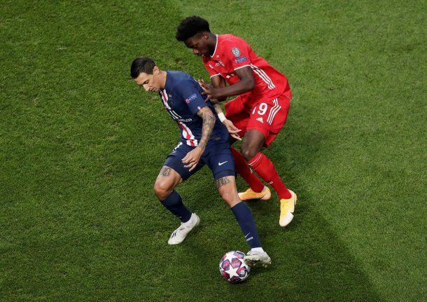 Di María, de lo mejor del PSG francés en la final de la Champions League.