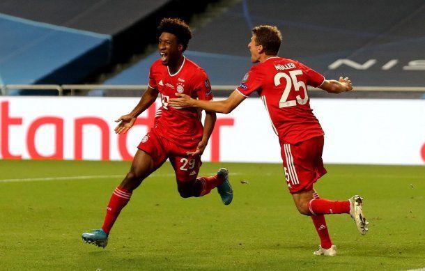 Coman, el autor del gol de Bayern Munich en la final de la Champions League. Es ex jugador del PSG.