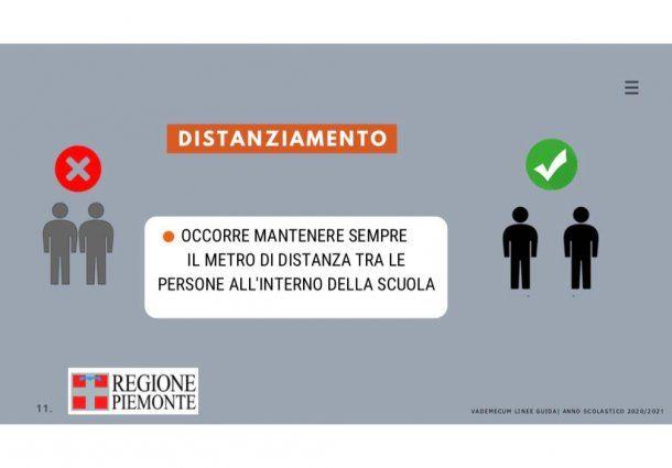 """Guía para el regreso a clases en Piemonte, Italia: """"Siempre se necesita mantener el metro de distancia entre personas dentro de la escuela"""""""