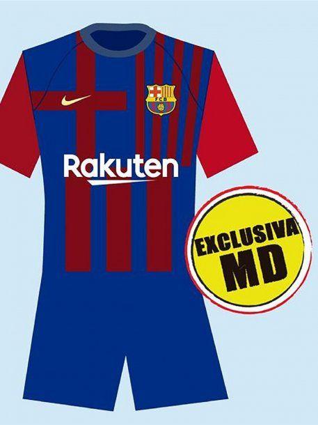 Así sería la nueva camiseta del Barcelona para el 2021. ¿Llegará a utilizarla Lionel Messi?