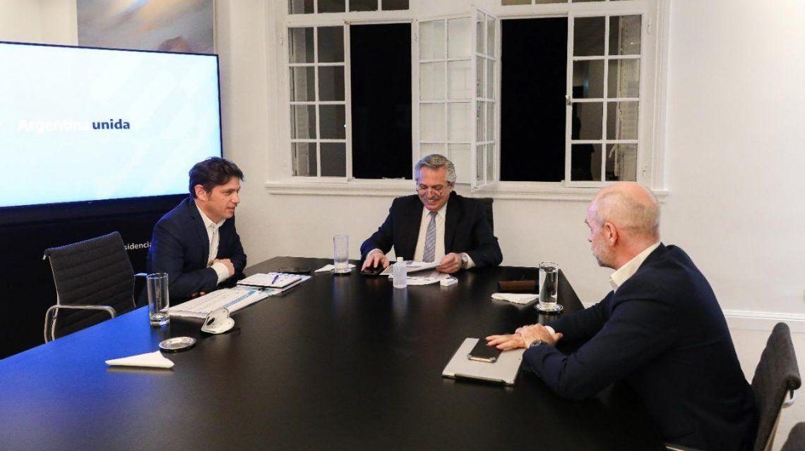Alberto Fernández acordó con Axel Kicillof y Horacio Rodríguez Larreta una nueva extensión del aislamiento obligatorio