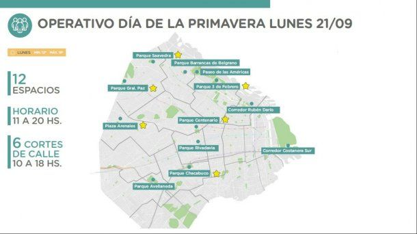 Operativo Primavera en la Ciudad de Buenos Aires para prevenir contagios de coronavirus.
