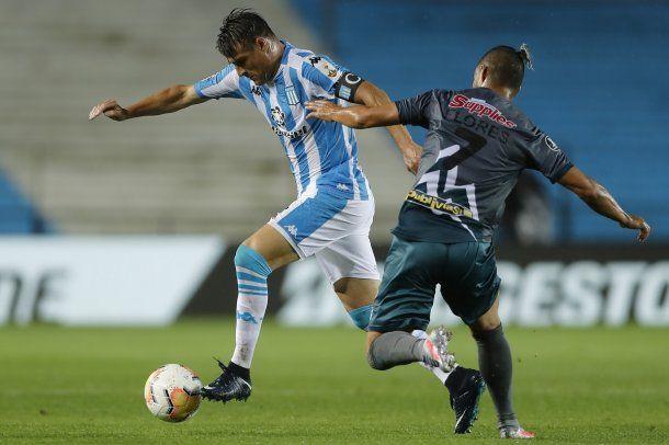 Racing no pudo con Estudiantes y terminó segundo en su grupo de la Copa Libertadores. Foto: @Libertadores.