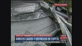 Villa Lugano: voló el techo de un mercado y causó destrozos