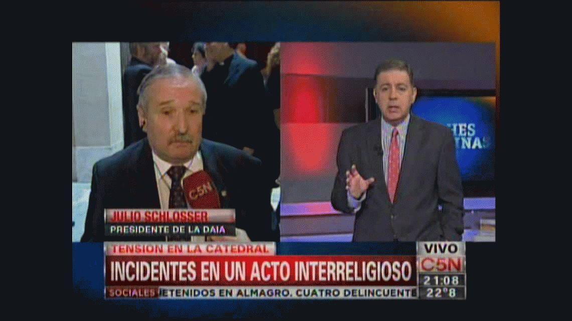 Incidentes en un acto interreligioso en la Catedral de Buenos Aires