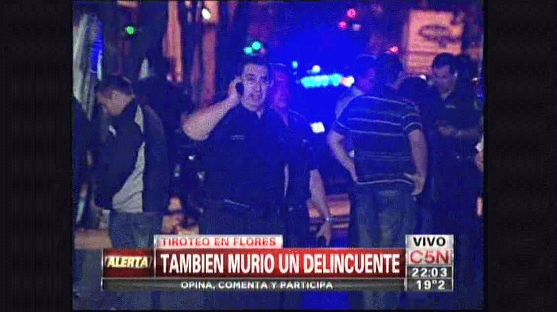 Tiroteo en Flores: murieron un policía y un delincuente