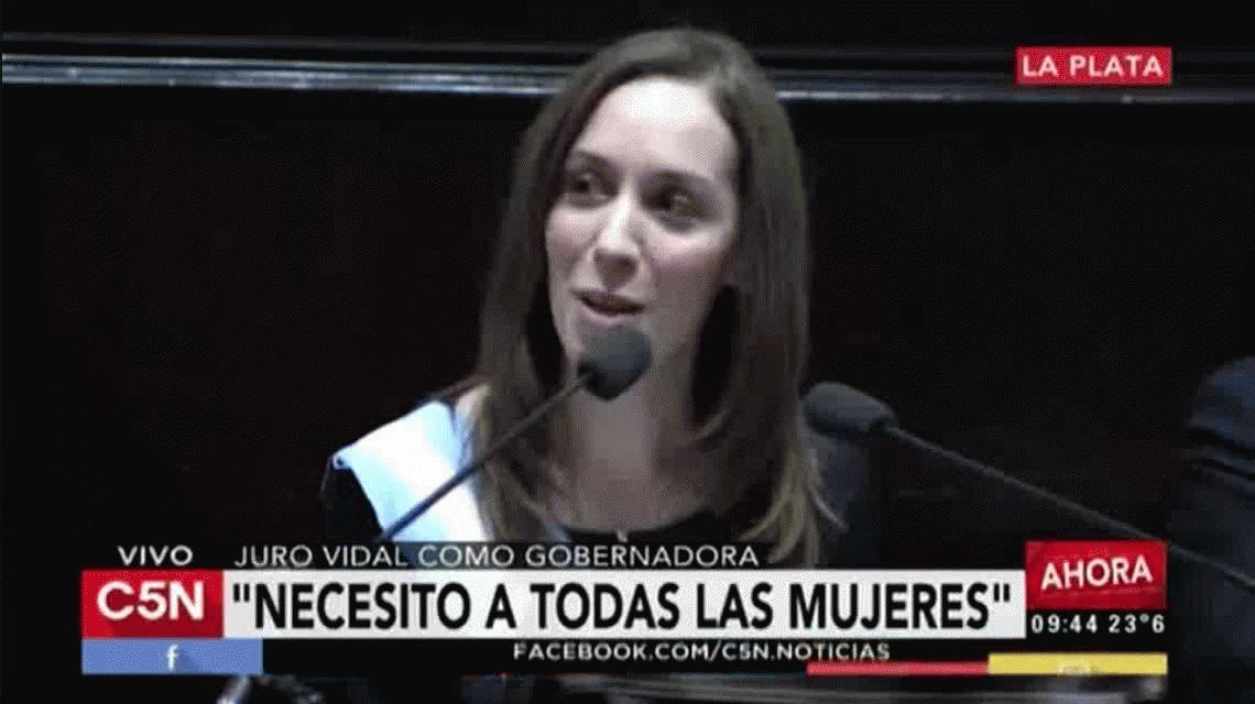 ¿Quién es Corina, la mujer a la que Vidal le agradeció al asumir como gobernadora?