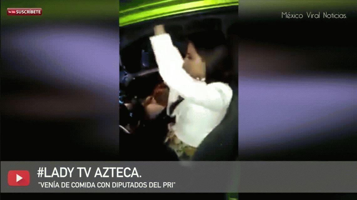 Una periodista se negó al test de alcoholemia, fue filmada y se volvió viral
