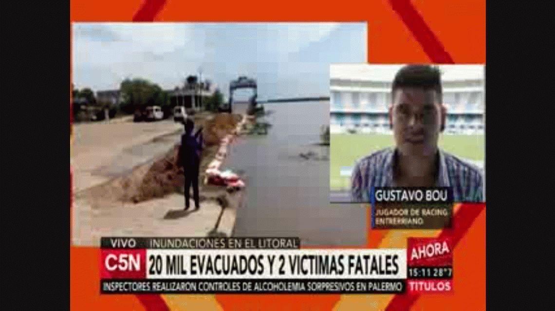 El drama de Bou por las inundaciones de Concordia: Me duele mucho ver esto