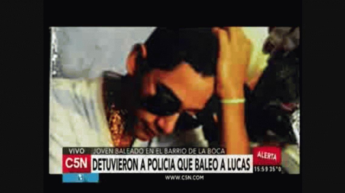 Vuelven a detener al policía que baleó a Lucas Cabello