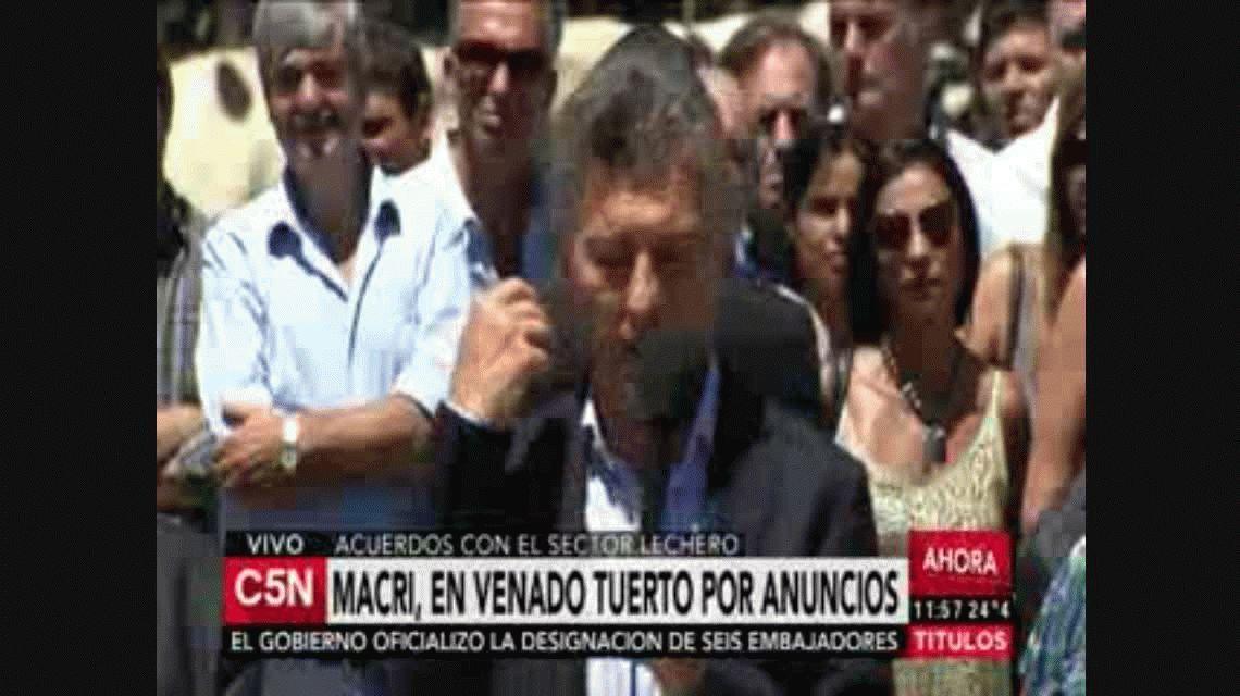 VIDEO: Mirá el blooper de Macri con el micrófono caliente