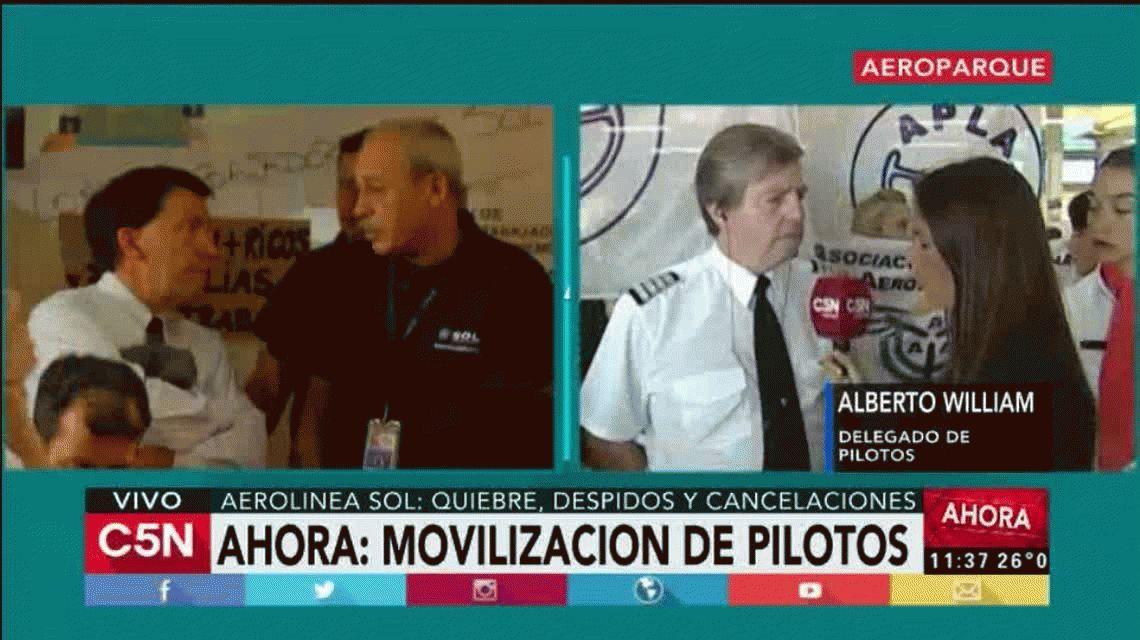 Emotivo reclamo de empleados de Sol en Aeroparque