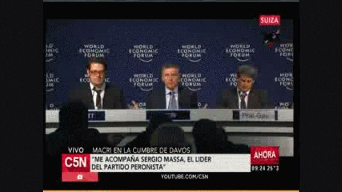 Macri volvió a cuestionar a Venezuela en Davos