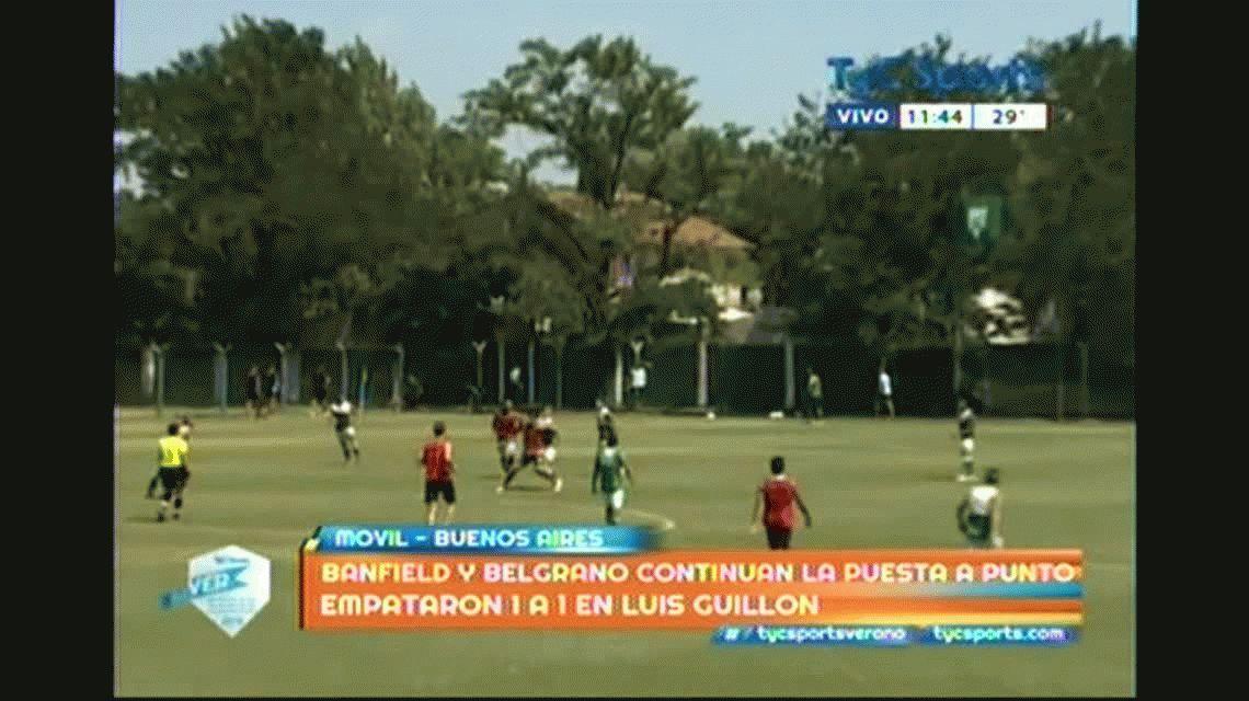 De amistoso, poco y nada: Banfield-Belgrano casi termina a las piñas