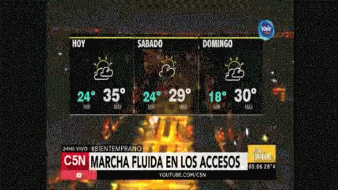 Se espera un fin de semana con mal tiempo en la Ciudad y el Conurbano