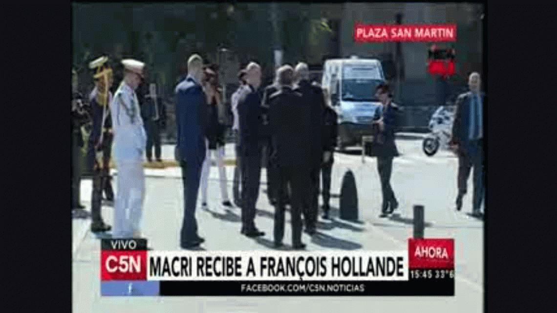 François Hollande llegó al país y se reunió con Mauricio Macri