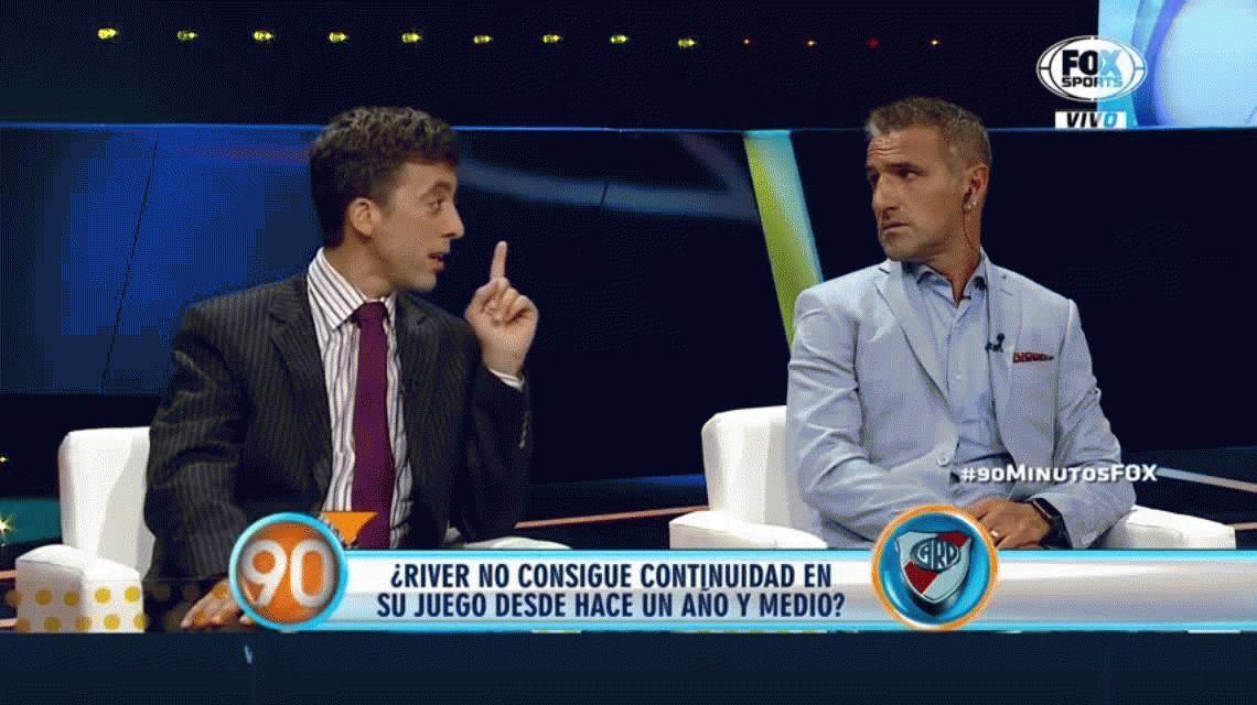 VIDEO: Pelea en vivo entre un periodista y un ex Boca por el planteo ante River