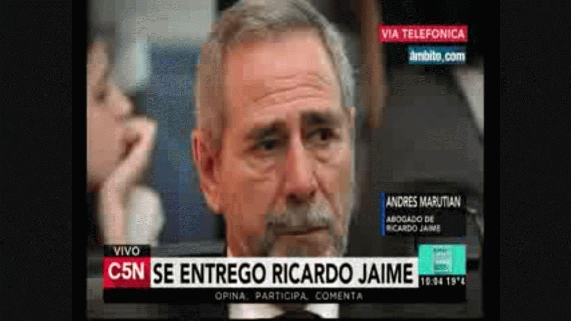 El abogado de Ricardo Jaime calificó la orden de detención de su defendido como ridícula
