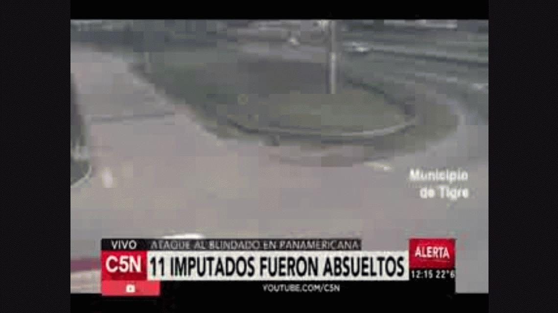 Absolvieron a los 14 imputados por el ataque al blindado en Panamericana