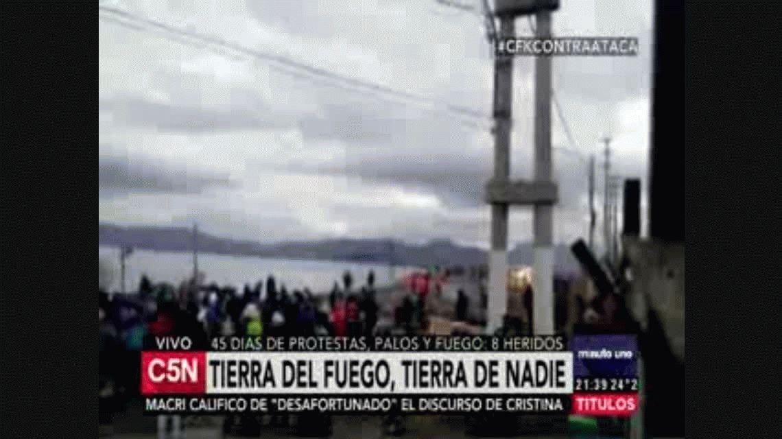 Custodian planta de combustible en Ushuaia ante temor de nuevos bloqueos