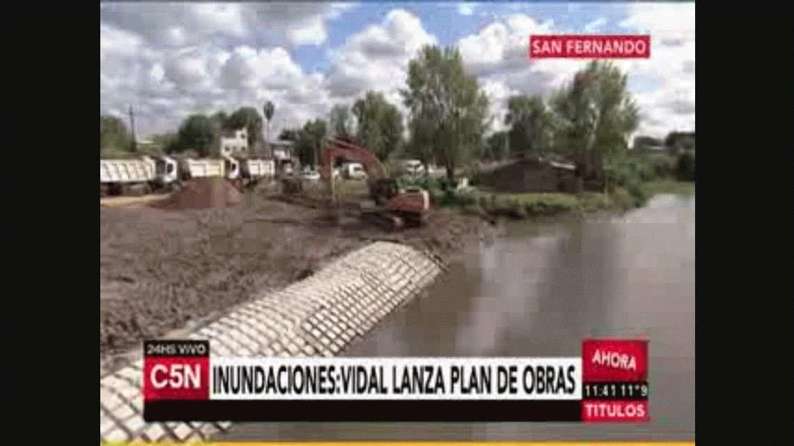 Vidal anunció un plan hídrico: Queremos evitar que los vecinos se inunden