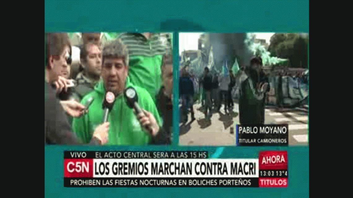 Pablo Moyano: Hay que ver si Macri tiene huevos para vetar la ley antidespidos