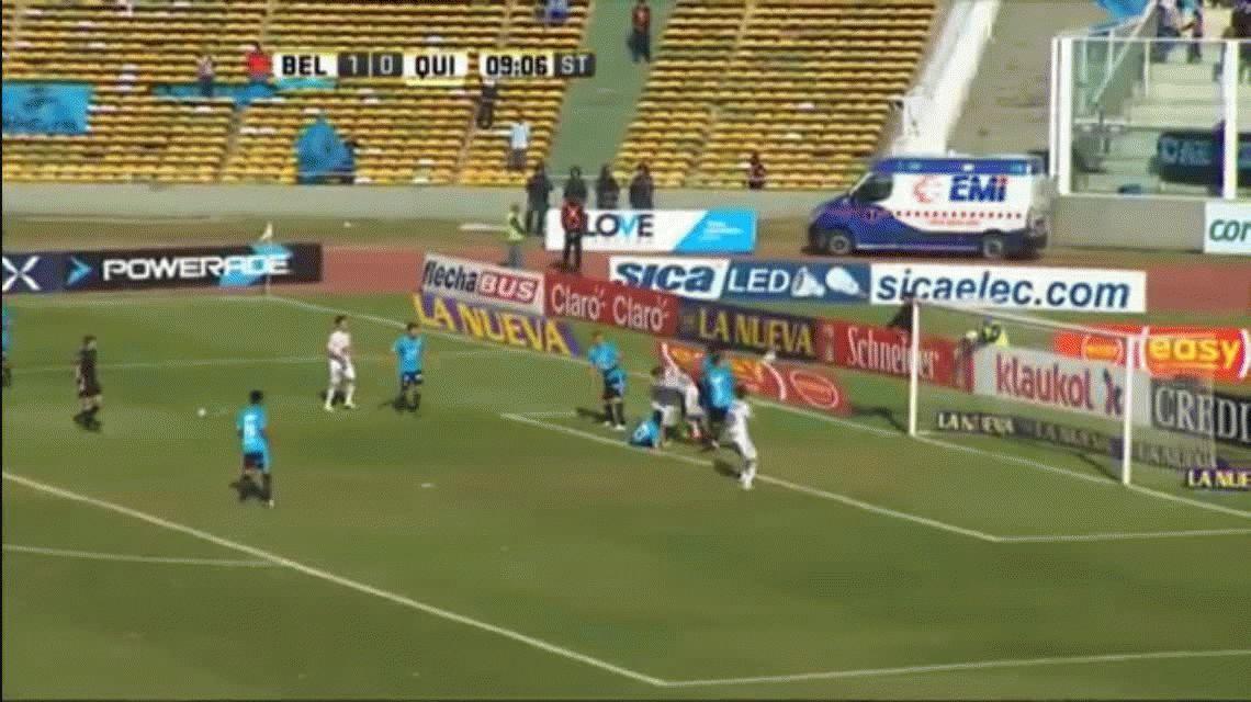 Para el anuario de fin de año: mirá el insólito error de Olave frente a Quilmes