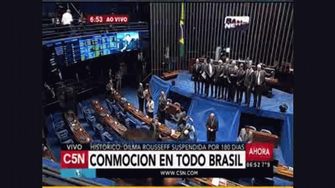 VIDEO: Así fue la votación que suspendió a Dilma