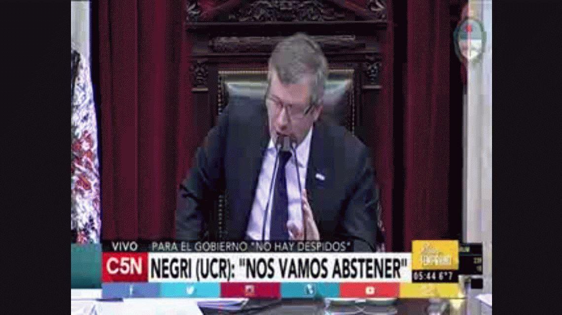 VIDEO: Así fue la votación con la que se aprobó la ley antidespidos