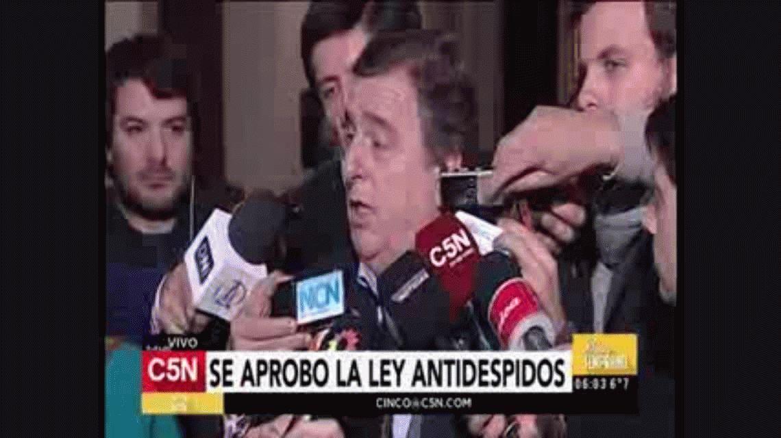 Negri acusó a Massa de querer hacer campaña con la ley antidespidos