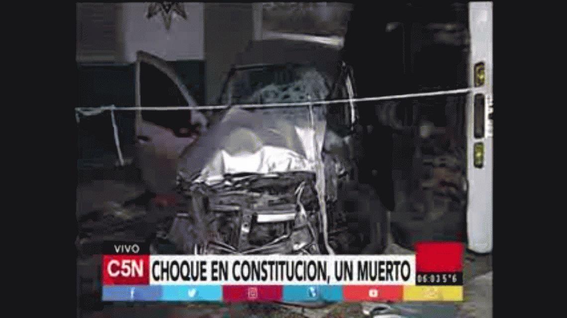 Choque fatal en Constitución: un muerto y un herido