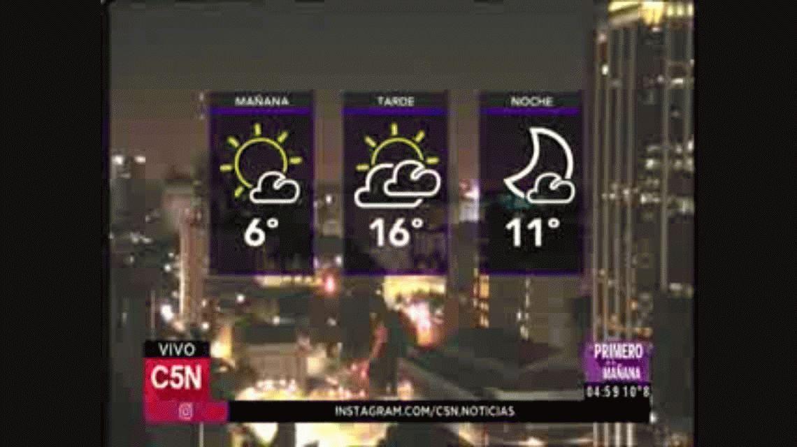 Se espera tiempo frío en la jornada previa al feriado por el 25 de Mayo
