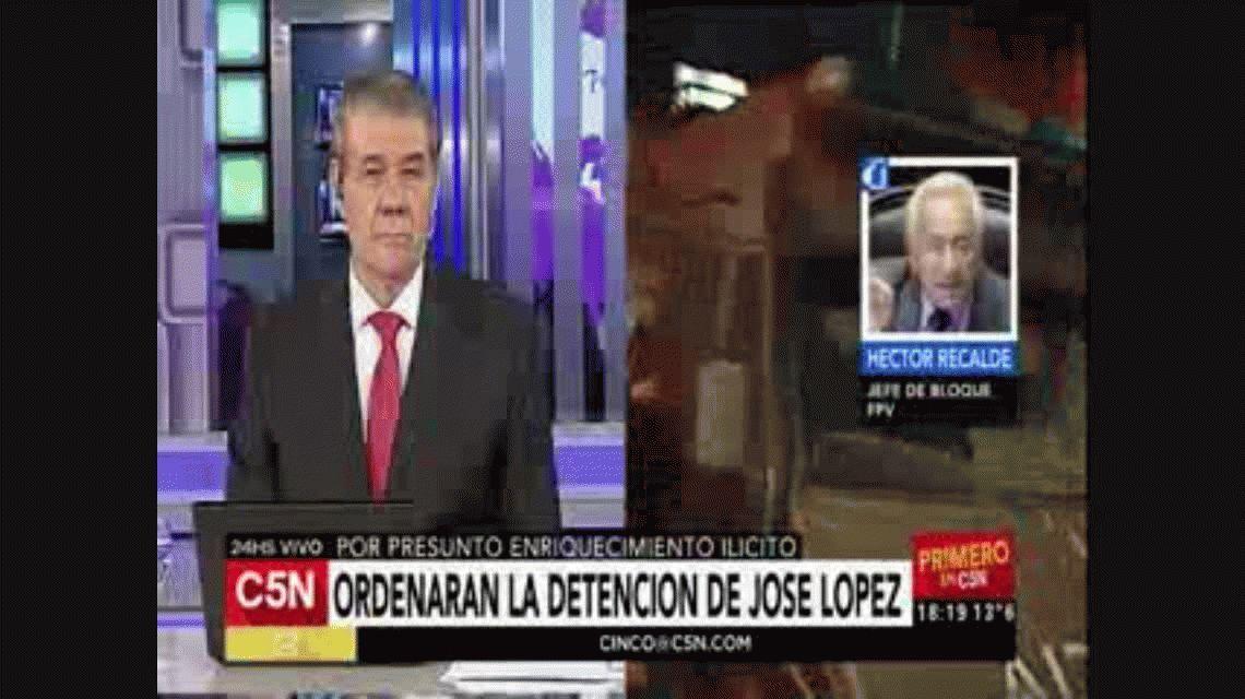El titular de la bancada del FpV en Diputados repudió a José López