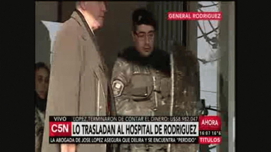 VIDEO: Así trasladaron a José López al hospital de General Rodríguez