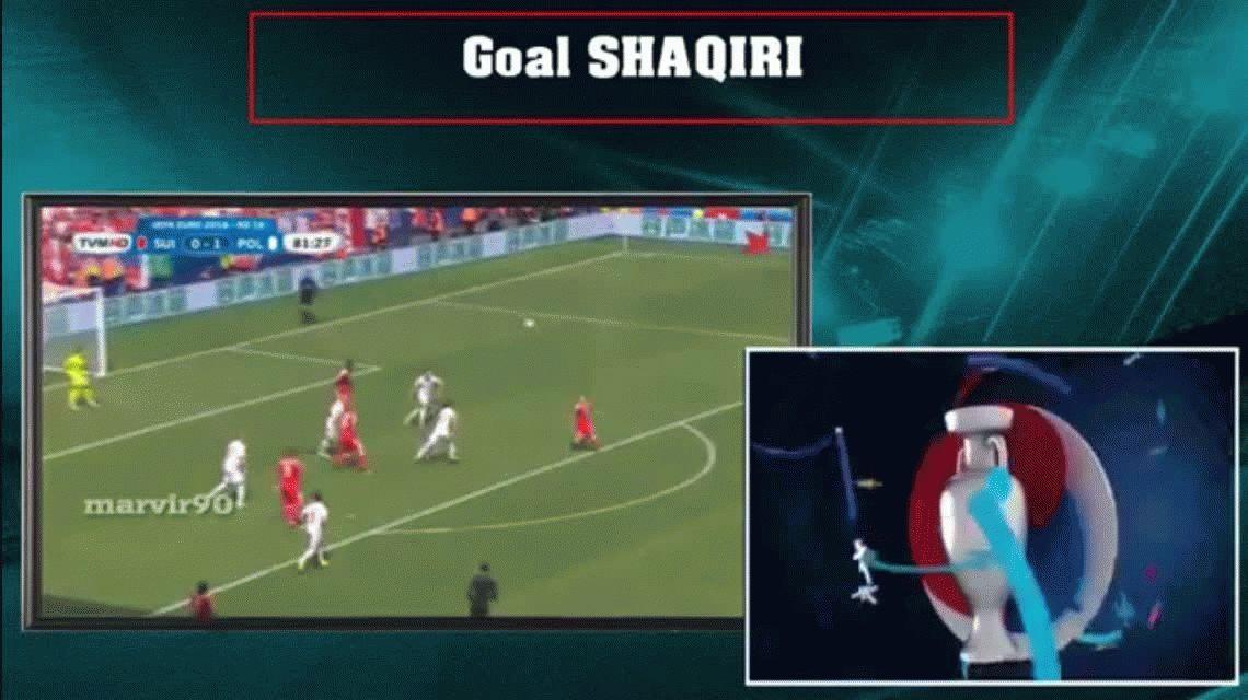 VIDEO: el espectacular gol de chilena de afuera de la área en la Eurocopa