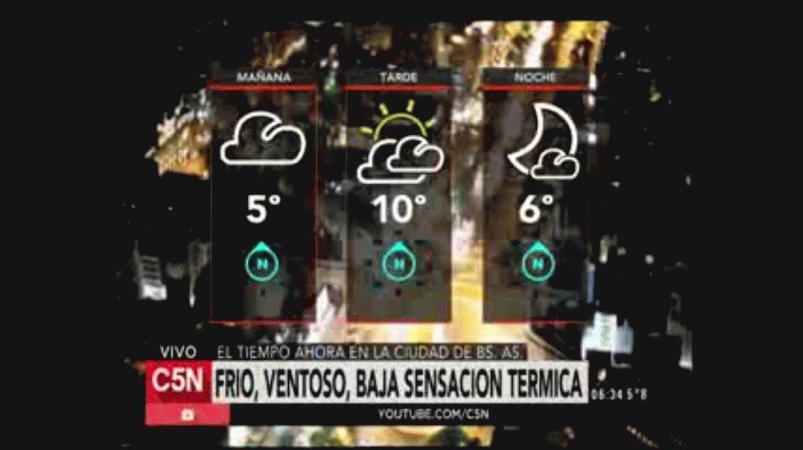 Las vacaciones de invierno arrancaron con frío polar en la Ciudad y el Conurbano