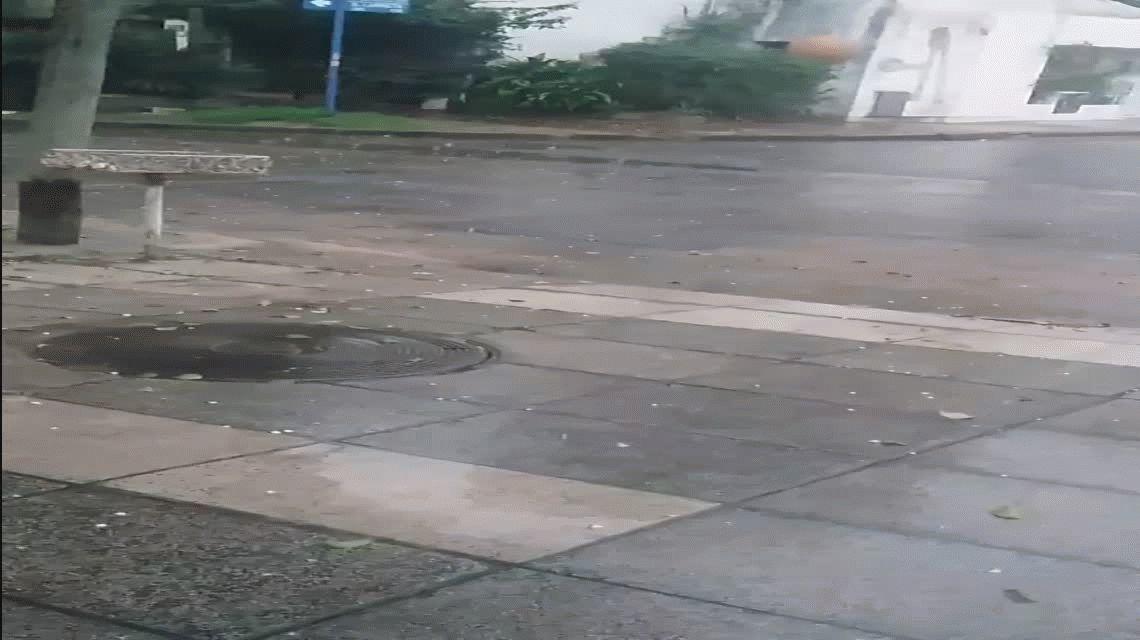 Cayó granizo en el Gran Buenos Aires y hay para la Ciudad