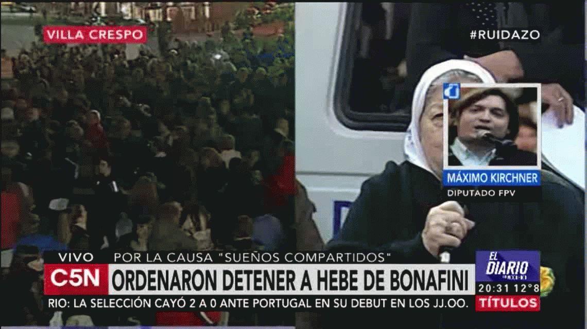 Máximo defendió a Hebe: Siempre pone el cuerpo como lo hizo en la dictadura