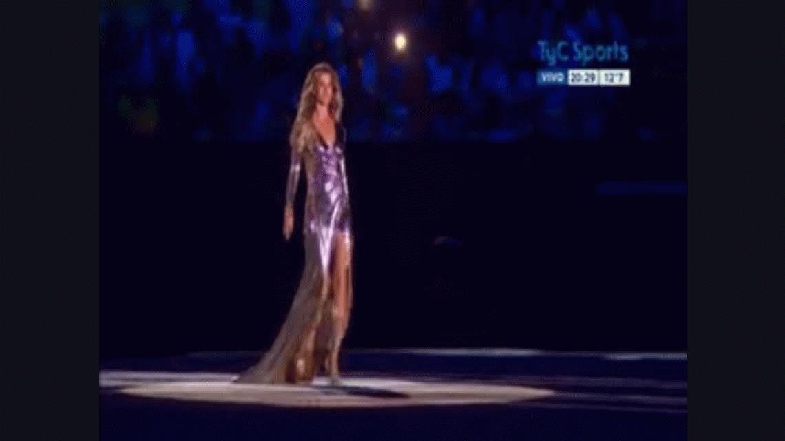Así fue la esperada aparición de Gisele Bündchen en la inauguración de Río 2016