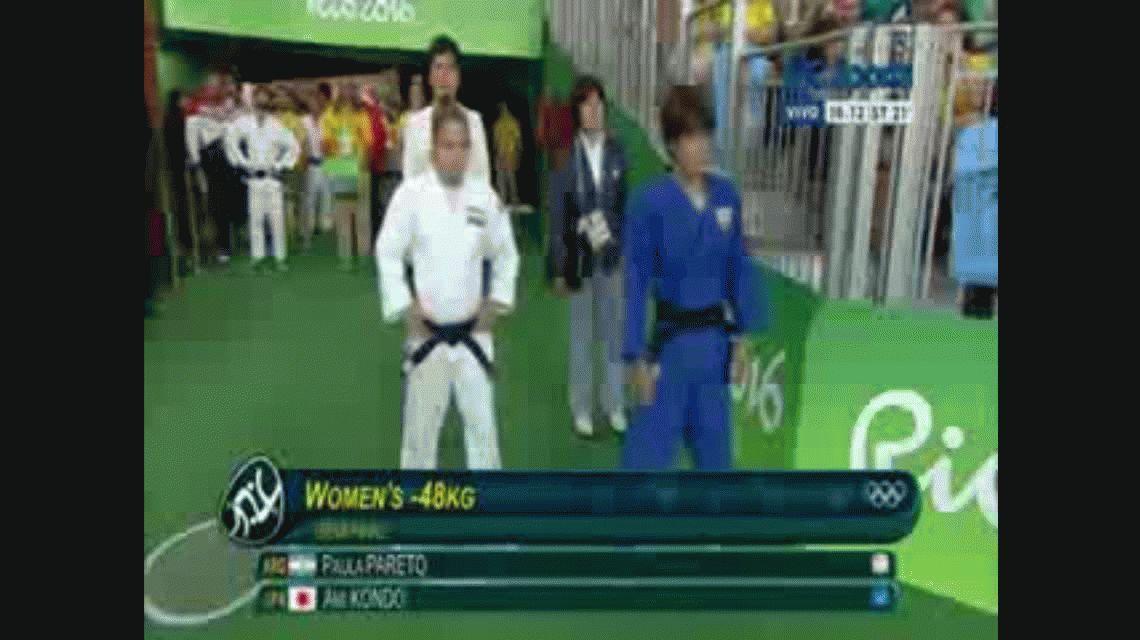 Orgullo argentino: la judoca Paula Pareto se aseguró una medalla