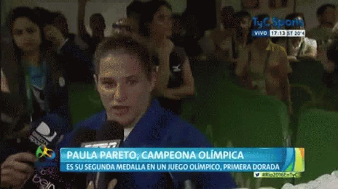 ¿Qué dijo Paula Pareto luego de haber ganado la primera medalla argentina?