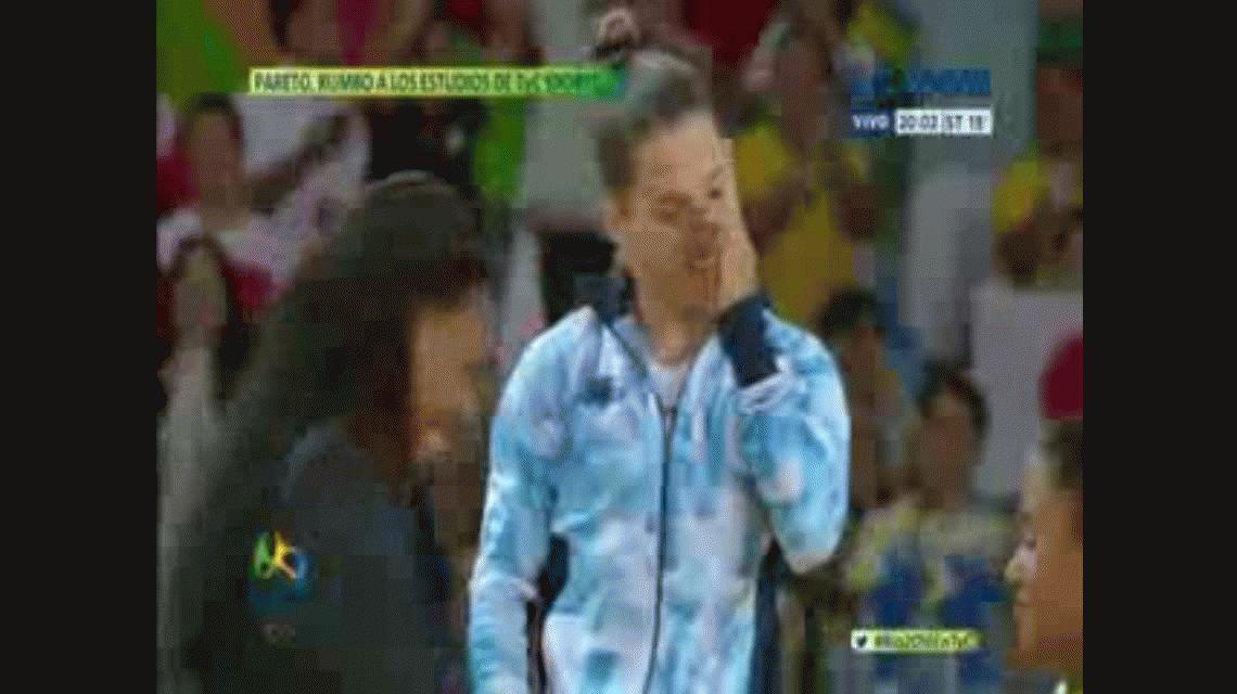 La emoción de Pareto al escuchar el himno argentino y recibir la medalla de oro