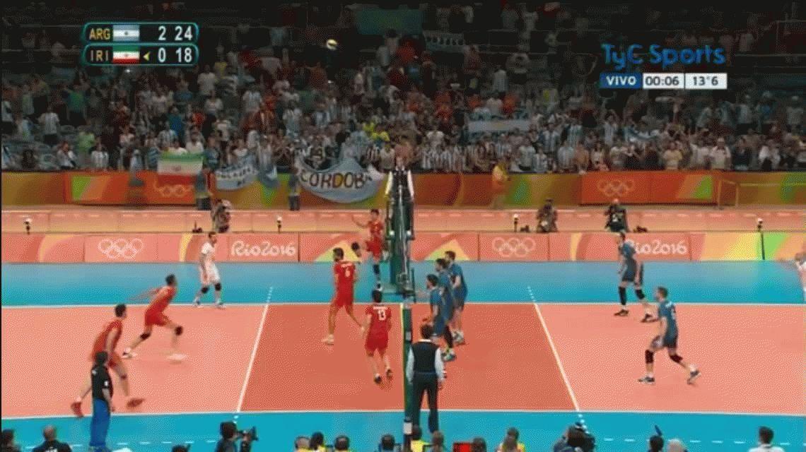 Sólida actuación del vóley masculino en el debut ante Irán