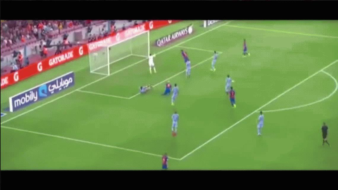 Lo que le faltaba: Messi dio una genial asistencia... ¡de chilena!