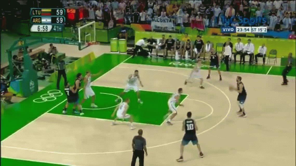 La Generacion Dorada cayó ante Lituania y se la tiene que jugar contra Brasil