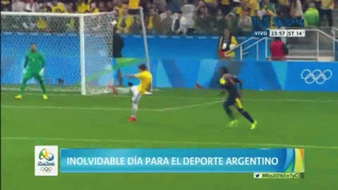 Brasil le ganó a Colombia y sueña con su primer oro olímpico en fútbol
