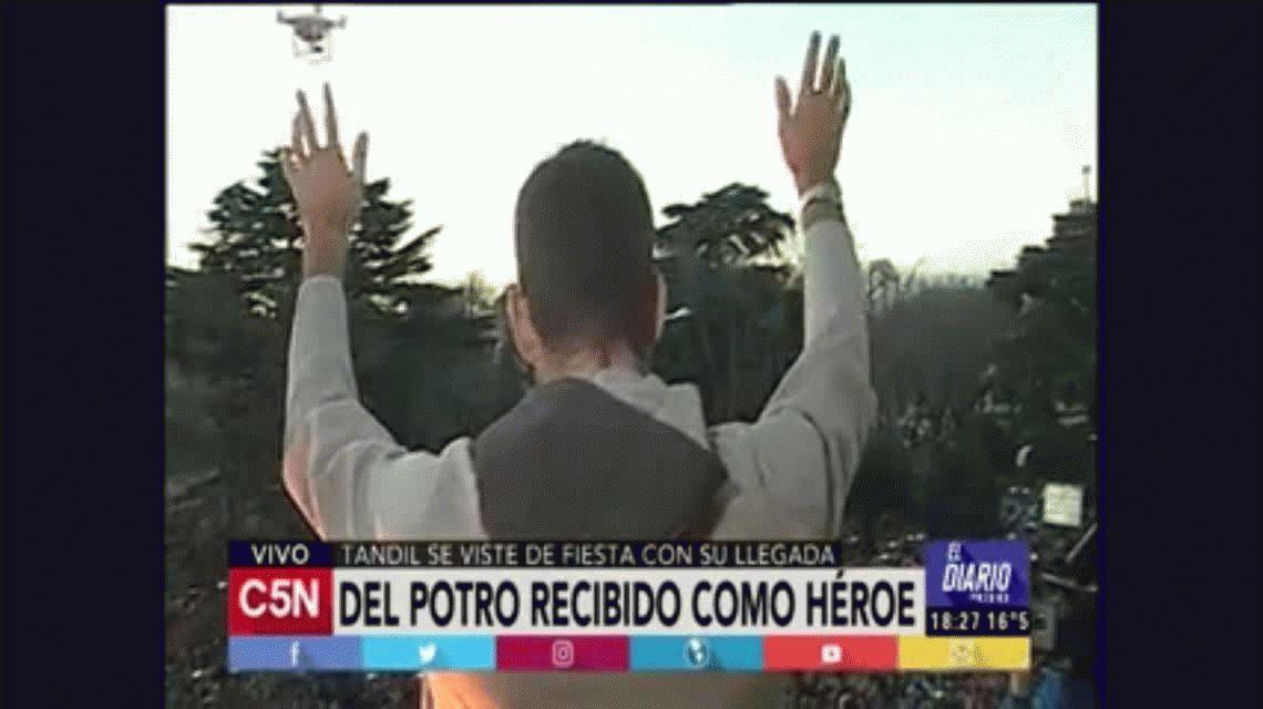 Una multitud celebró la medalla con Juan Martín Del Potro en Tandil