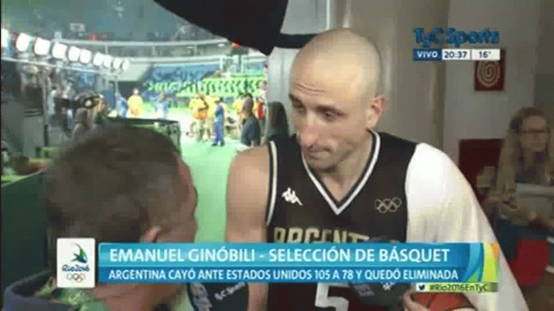 La emoción de Ginóbili en su último partido: Fueron años espectaculares