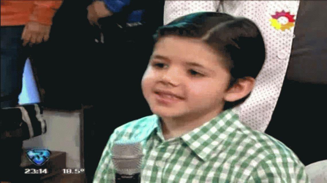 Mirá la actuación completa de Enoc Girado, el nene que cautivó a Tinelli